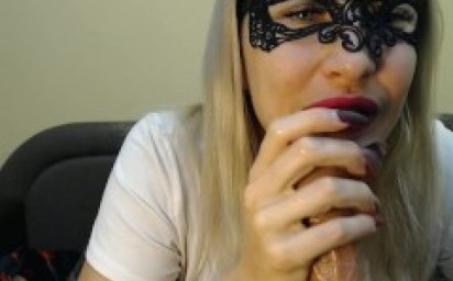 Deep throat blowjob on webcam with drooling on sissy, double penetration, anal big and hot to orgasm