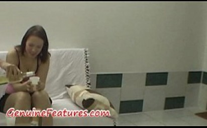 Backstage interview and hard doggy style