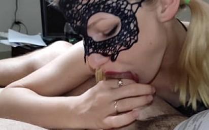 POV best blowjob for big cock, blonde suck big dick with pleasure. 4K UHD, julandjon