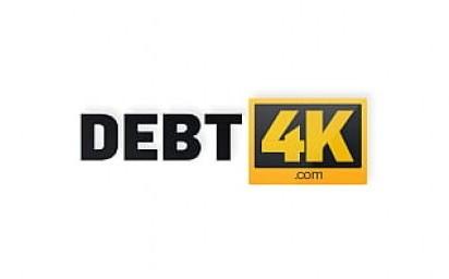 DEBT4k. Guy pulls hard cock out of pants to punish the ravishing debtor