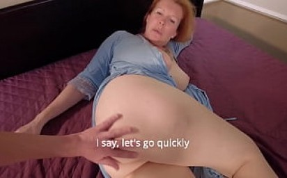 The Stepmother agrees: Fuck me, Fuck quickly, while no one sees
