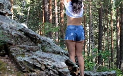 Sex Weekend with my Step Mom - MILF Takes off her Panties and Asked for a Bare Butt Photograph - TRAVEL VLOG # 2