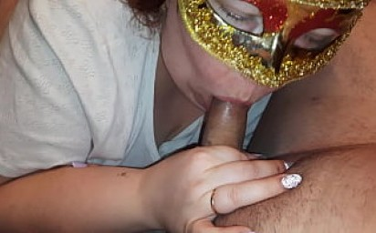 Hot sensual closeup blowjob from a curvy russian BBW, she sucks cock, watches your eyes and eats your cum