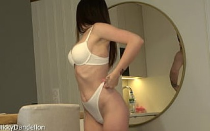 Luxurious busty girl with big ass and tight wet pussy sloppy sucks big dick and fucks very hard